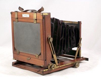 Lot 49-The 'ETAH' Half Plate Wood & Mahogany Field Camera