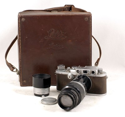 Lot 89-A Chrome Leica IIIb Rangefinder Camera