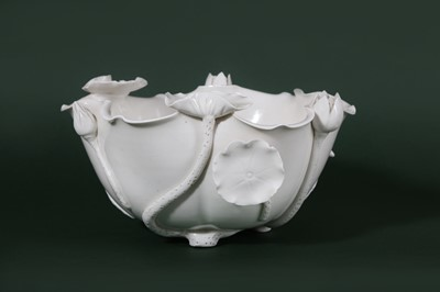 Lot 11-A CHINESE BLANC-DE-CHINE 'LOTUS' WASHER.