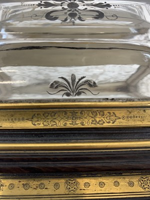 Lot 29 - A FINE ITALIAN GILT BRONZE, EBONISED AND ROCK CRYSTAL CASKET,  PROBABLY ROMAN 19TH CENTURY
