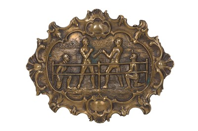 Lot 96-A LATE 19TH CENTURY ENGLISH BRASS BOXING BUCKLE