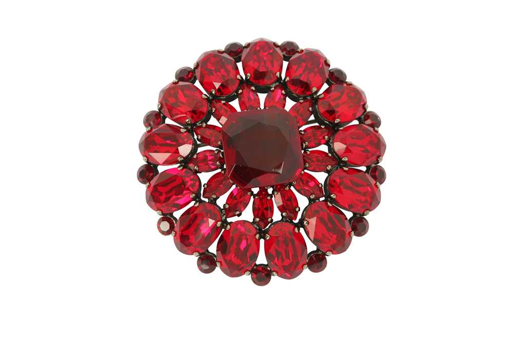 Lot 1217-Dolce and Gabbana Ruby Crystal Brooch