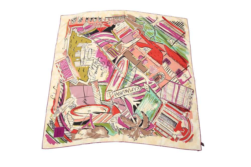 Lot 1229-Asprey 'San Roque Club' Silk Scarf