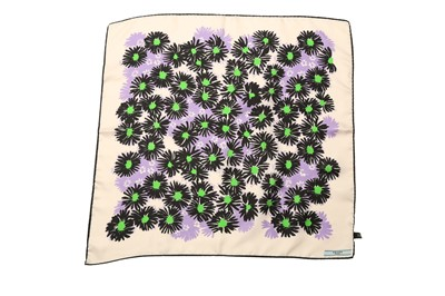 Lot 1237-Prada Abstract Flower Silk Square