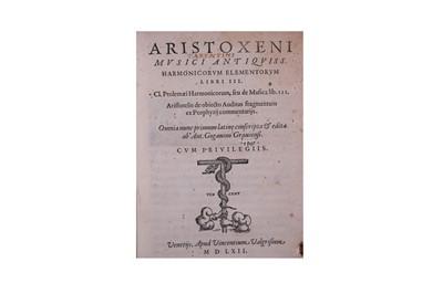 Lot 360-Music.- Aristoxenus