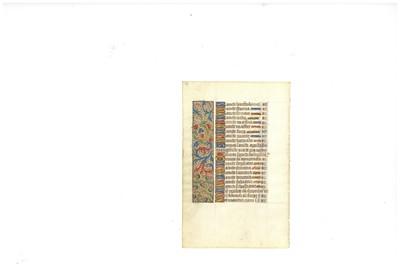 Lot 357-Medieval Manuscript Leaves.