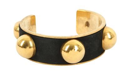 Lot 1270-Alexander McQueen Black Stud Cuff Bracelet