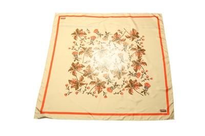 Lot 1261-Prada Floral Print Silk Scarf