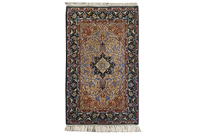 Lot 23-AN EXTREMELY FINE PART SILK ISFAHAN RUG, CENTRAL PERSIA
