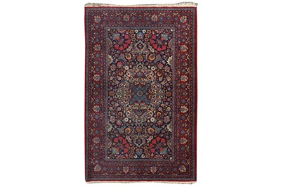 Lot 13-AN UNUSUAL FINE MESHED RUG, NORTH-EAST PERSIA