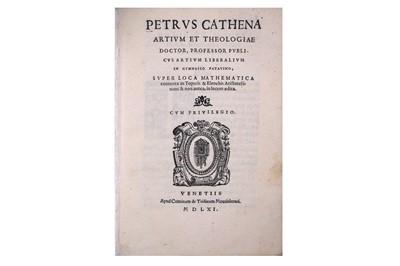 Lot 351-Mathematics.- Catena (Pietro)