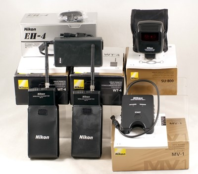 Lot 462-Two Nikon Wireless Transmitters & Other Boxed Accessories.