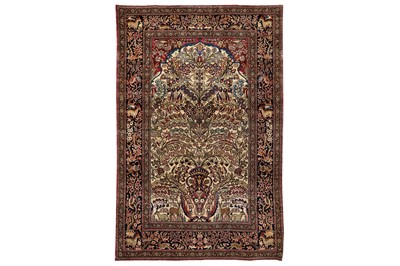 Lot 35-A VERY FINE ISFAHAN PRAYER RUG, CENTRAL PERSIA