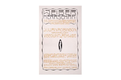 Lot 1039-Robinson (Julian) [Pseudonym Viscount Ladywood]