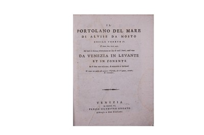 Lot 369-Pilot Book.- Da Mosto (Alvise, Cà)