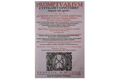 Lot 354-Medicine.- Martini (Valerio)