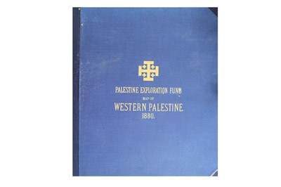 Lot 877-MAP OF WESTERN PALESTINE, BY C.R CONDER R.E. KITCHNER