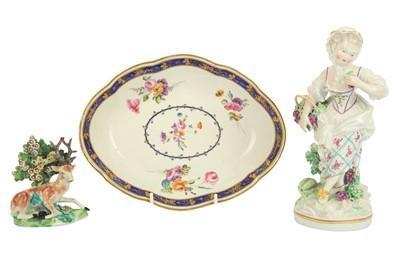 Lot 30-A Derby porcelain figure of Autumn, circa. 1780