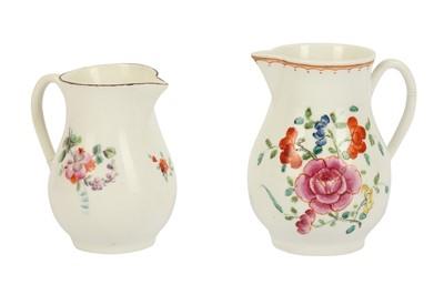 Lot 28-A 18th century Worcester porcelain sparrow beak jug