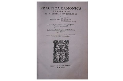 Lot 331-Fevers.- Savonarola (Giovanni Michele)