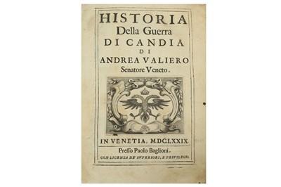 Lot 834-CRETE.- VALIERO (ANDREA) HISTORIA DELLA GUERRA DI CANDIA