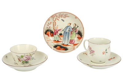 Lot 17-An 18th century Chelsea cup and trembleuse saucer