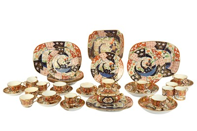 Lot 42-A pair of 19th century English Imari pattern porcelain oval chargers