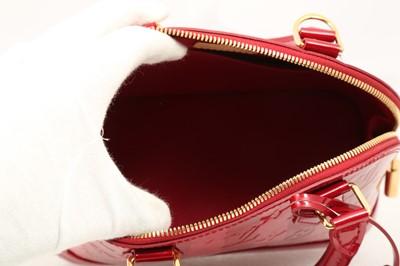 Lot 7 - Louis Vuitton Pomme D'Amour Rayures Monogram Vernis Alma BB