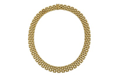Lot 1218-A gold fancy-link necklace