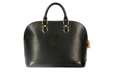 Lot 1266-Louis Vuitton Black Epi Alma PM