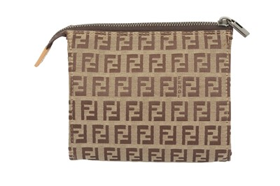 Lot 1247-Fendi Beige Monogram Pouch