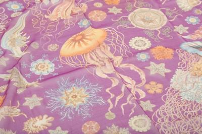 Lot 1230-Asprey Magenta Silk Chiffon Scarf