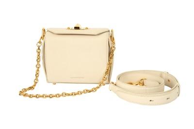 Lot 1202-Alexander McQueen Ivory Box Bag