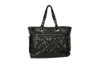 Lot 1295-Chanel Black Biarritz Tote Bag