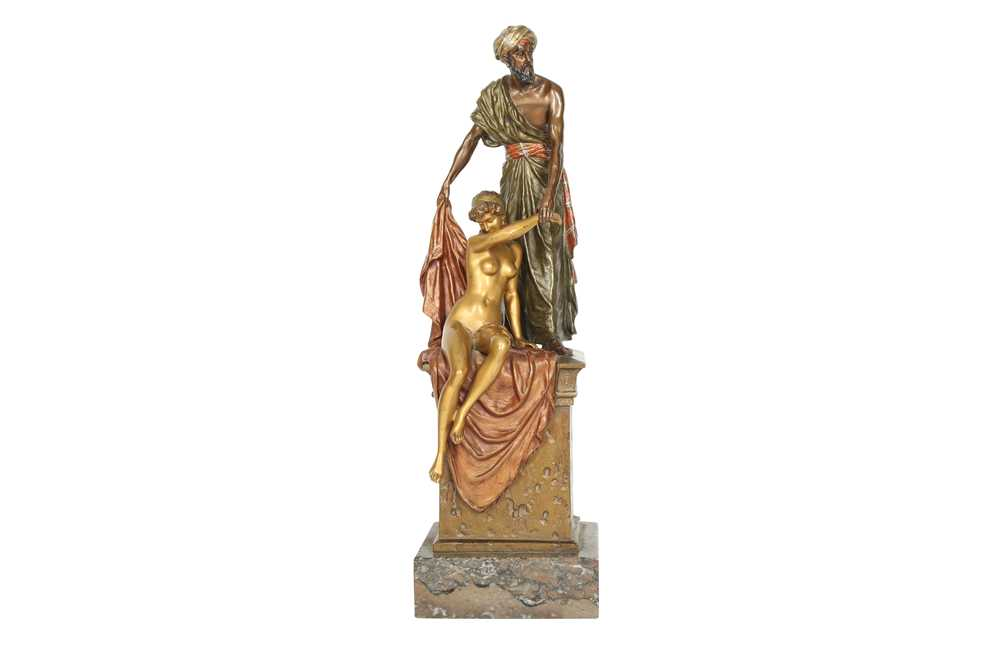 Lot 831-AN EARLY 20TH CENTURY AUSTRIAN COLD-PAINTED BRONZE