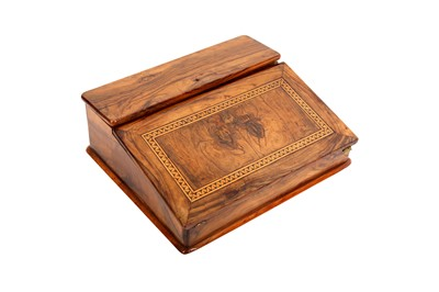 Lot 888-A CLEAR OLIVE WOOD PORTABLE WRITING DESK