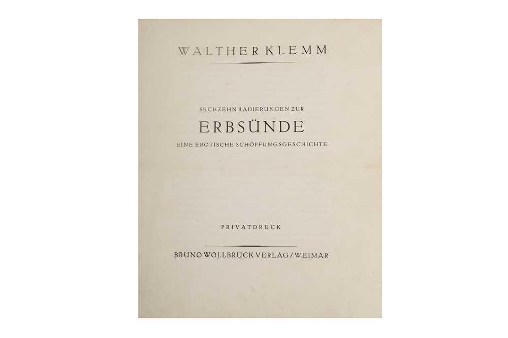 Lot 1046-Klemm (Walther) Sechzehn radierungen zur Erbsünde