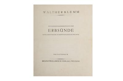 Lot 1046 - Klemm (Walther) Sechzehn radierungen zur Erbsünde