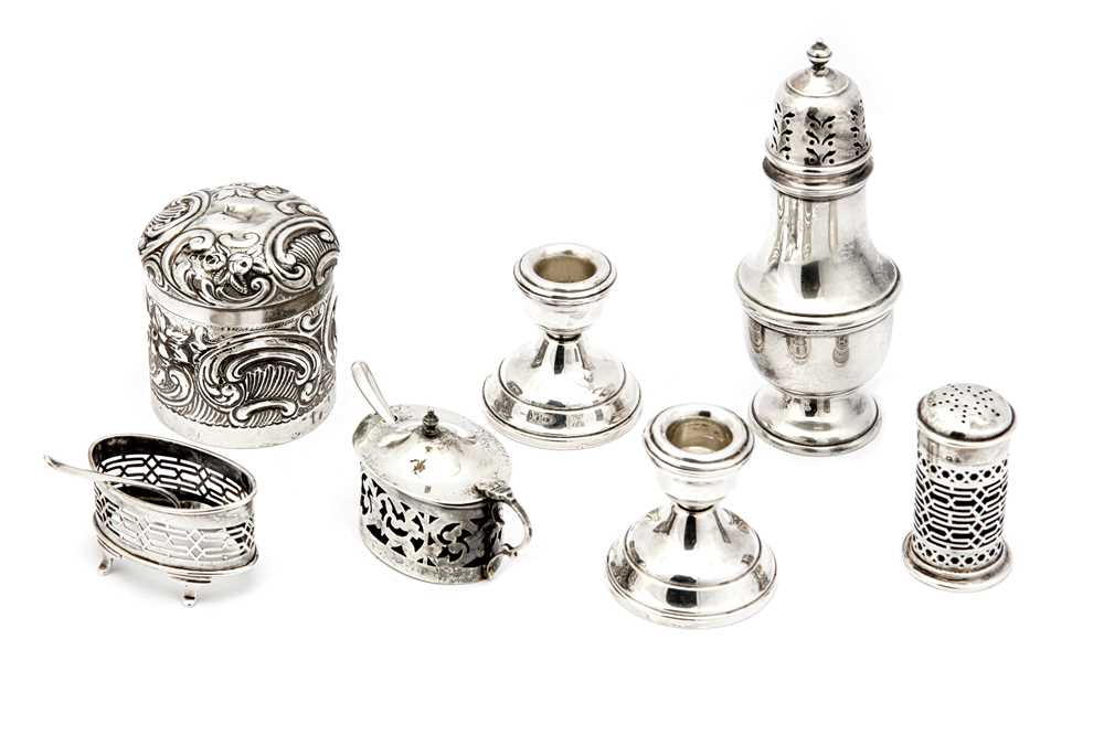 Lot 32-A mixed group of sterling silver