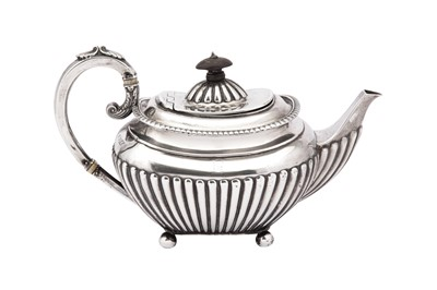 Lot 4-A Victorian sterling silver bachelor teapot, Sheffield 1898 by James Dixon and Sons