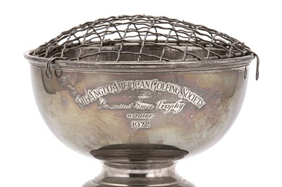 Lot 20-An Elizabeth II sterling silver presentation rose bowl, Birmingham 1971 by Cooper Brothers