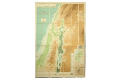 Lot 882-MAP OF WESTERN PALESTINE, BY C.R. CONDER R.E. KITCHNER