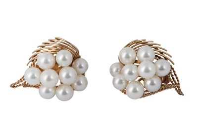 Lot 42 - A PAIR OF CULTURED PEARL EARRINGS
