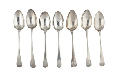 Lot 56-A mixed group – A pair of George III sterling silver tablespoons, London 1783 by James Sutton & James Bult