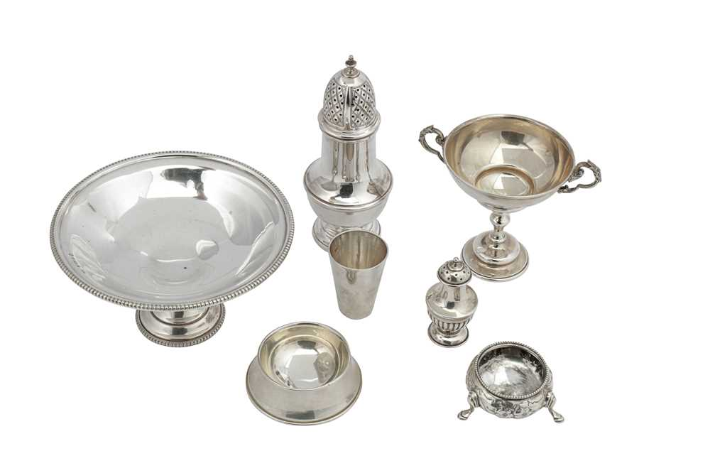 Lot 13-A mixed group of sterling silver