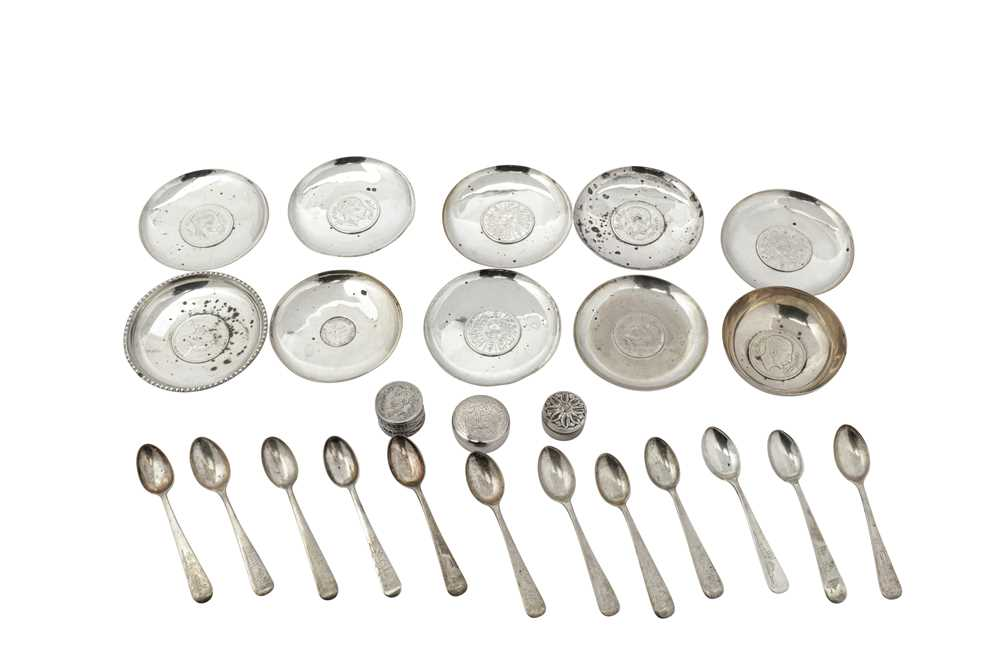 Lot 22-mixed group of 20th century Iraqi silver