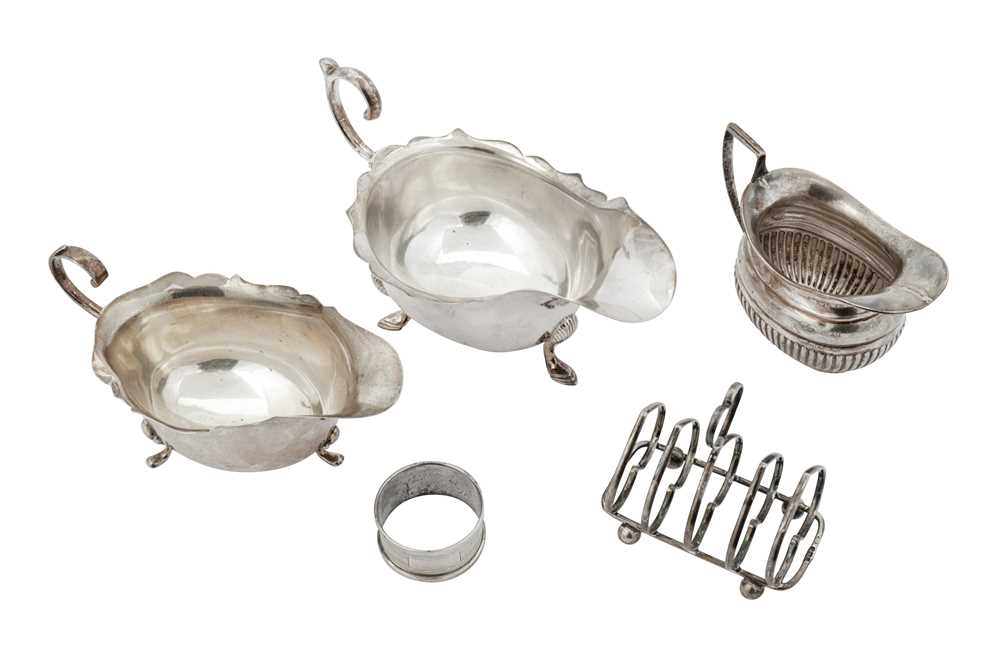 Lot 24-A mixed group of sterling silver holloware
