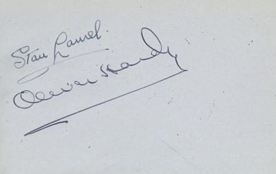 Lot 115A-Autograph Album.- Incl. Laurel & Hardy