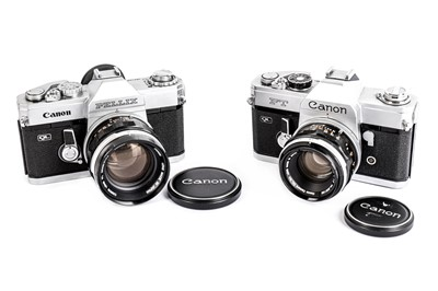 Lot 470-A Pair of Canon SLR Cameras