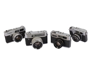 Lot 475-A Selection of Japanese Rangefinder Cameras